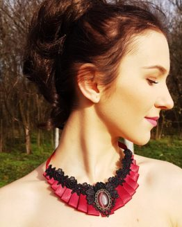 Red Fire Silk Necklace