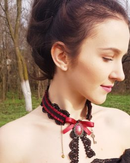 Red as a Rose Silk Necklace