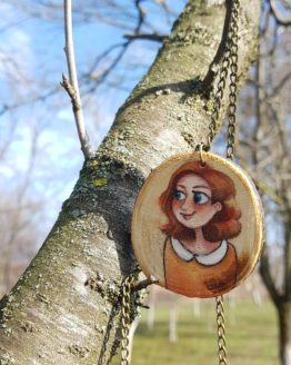 Gentle Lady Wooden Necklace