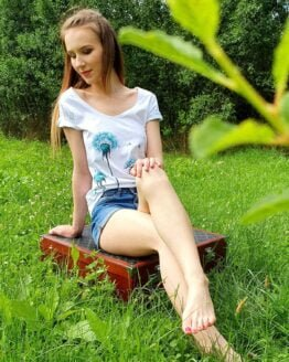 dandelions in the wind hand painted woman t-shirt modell