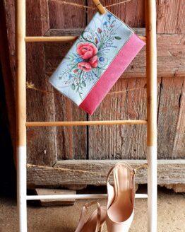 poppy hand painted letter bag