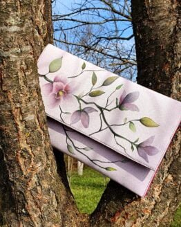 magnolia hand painted letter bag